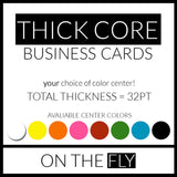 Business Card Printing - On The Fly