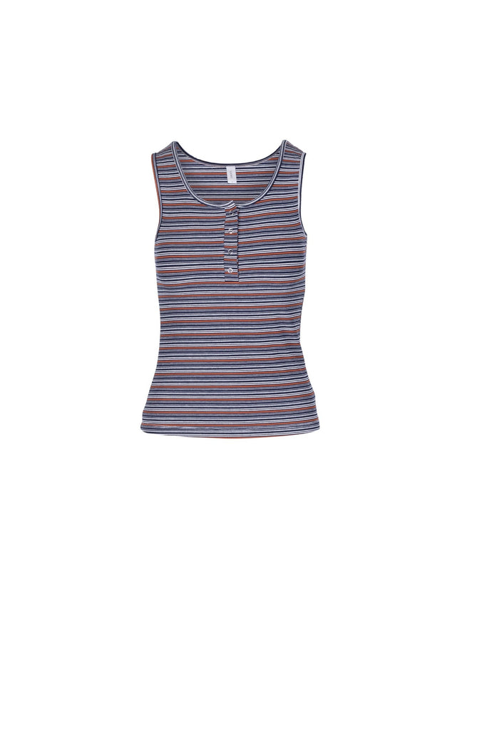 NUTMEG/NIGHTSKY STRIPE RIB JERSEY
