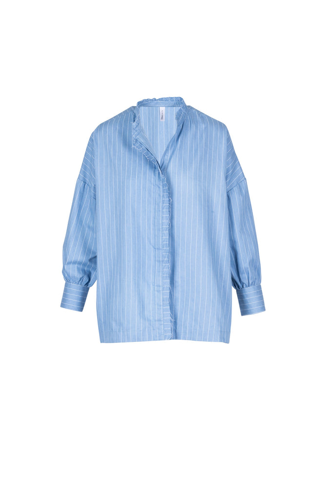 CHAMBRAY STRIPE COTTON