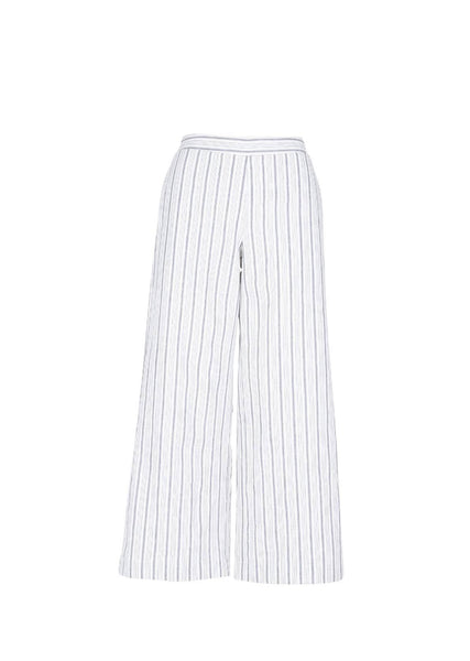 GREY/CHALK COTTON LINEN STRIPE