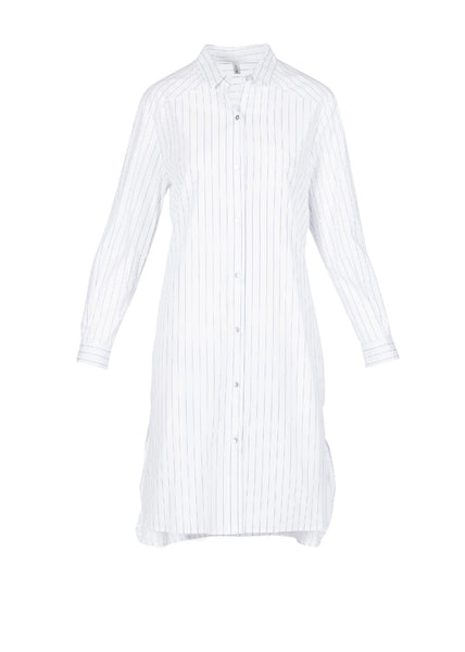 STRIPE PANEL SHIRT DRESS