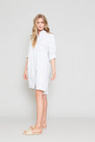 SIDE BUTTONED SHIRT DRESS