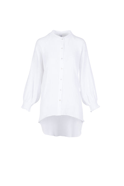 SHIRRED TRIM ESSENTIAL SHIRT