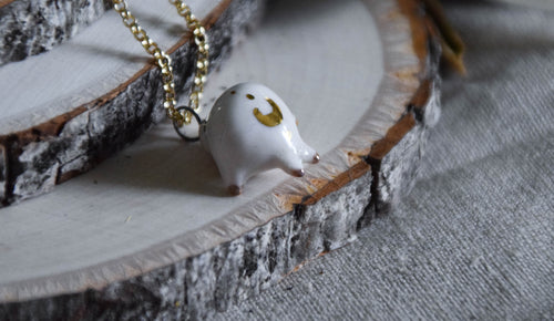 Porcelain Crescent Moon Baby Seal