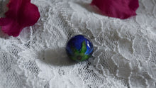 Small Blue Rose Orb Necklace