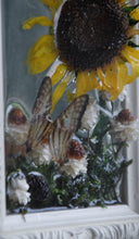 RESERVED KATHY Real Sunflower and Butterfly Picture