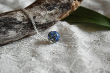 Small Forget-me-not Orb Necklace