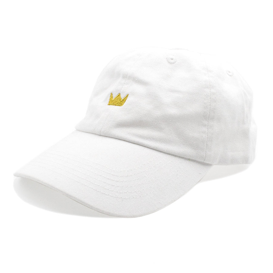 Crown Dad Hat / White