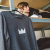 Crown Diagonal Cut Long Sleeve