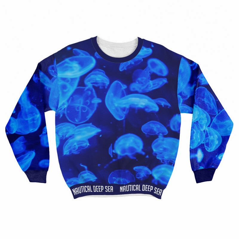 Jelly Fish In The Deep All Over Print Sweat Shirt