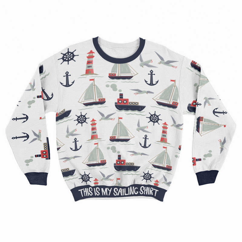 Sailing Shirt All Over Print Sweat Shirt