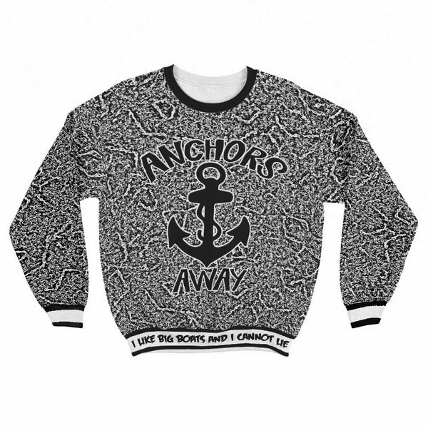 All Over Print Sweat Shirt Anchors Away