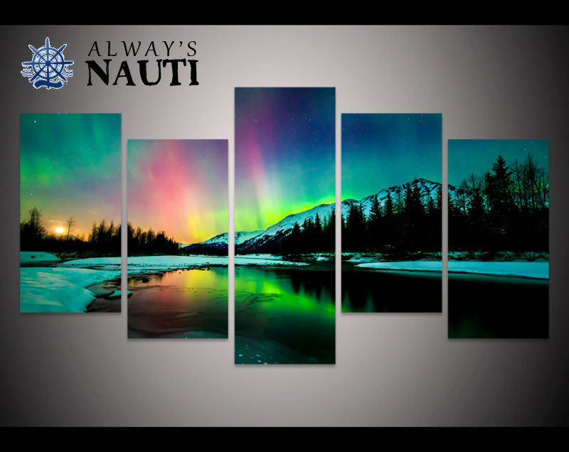 Aurora Borealis - Rainbow In Winter