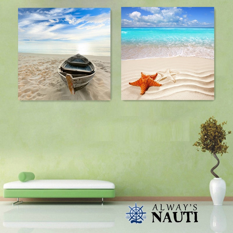 Beach Wall Art - 2 Piece Set