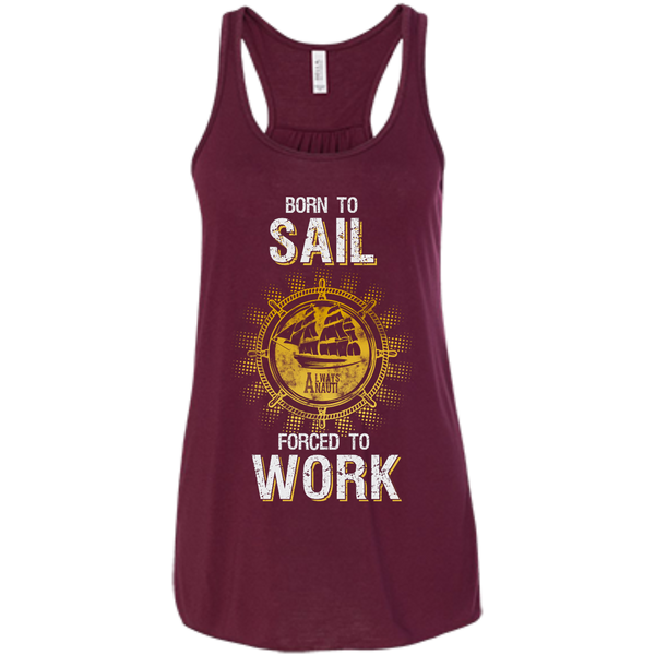 Nautical Attire For Women Flowy Racerback Maroon Tank