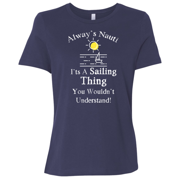 Nautical Shirt Sailing Shirt Ladies' Relaxed Jersey Short-Sleeve