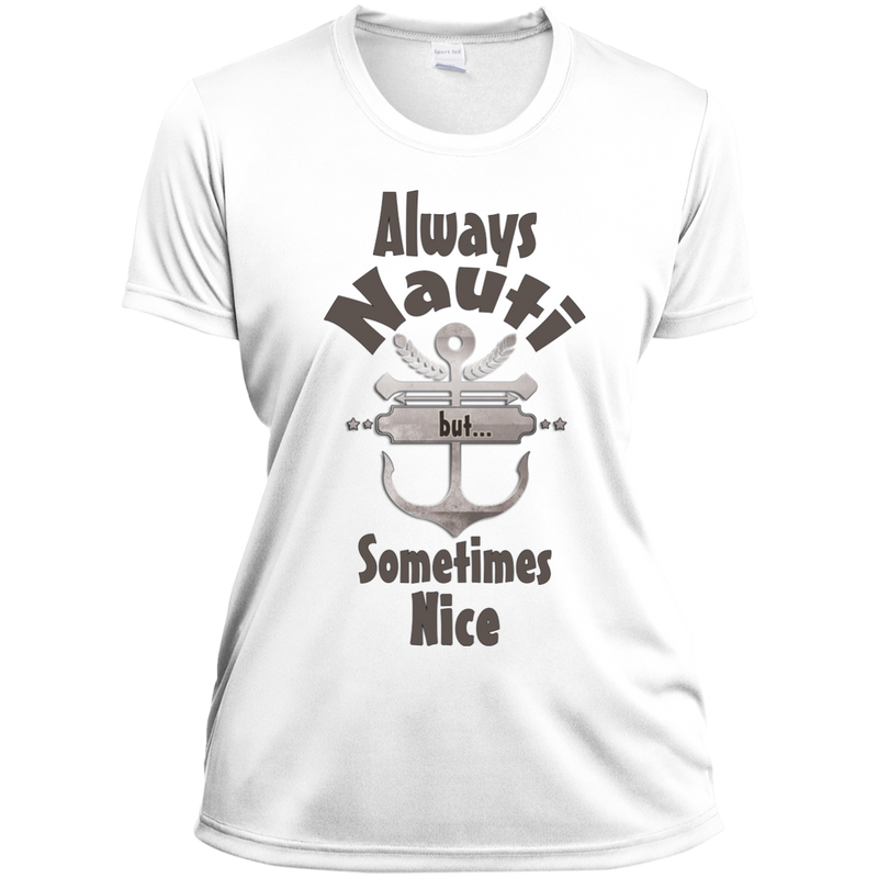 Nautical Style Womens Moisture Wicking White Tshirt