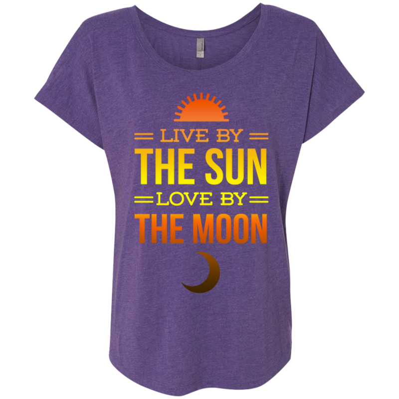 Live By The Sun Next Level Ladies Triblend Dolman Sleeve