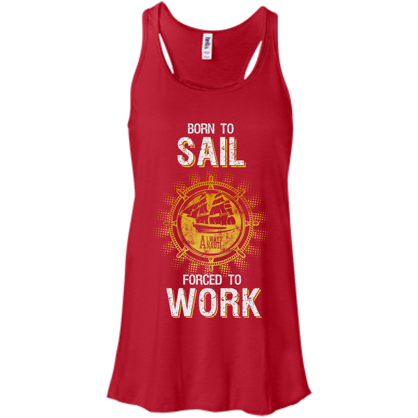 Nautical Attire For Women Flowy Racerback Red Tank