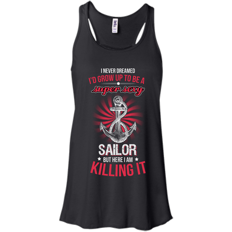 Super Sexy Sailor Ladies Bella+Canvas Flowy Racerback Tank