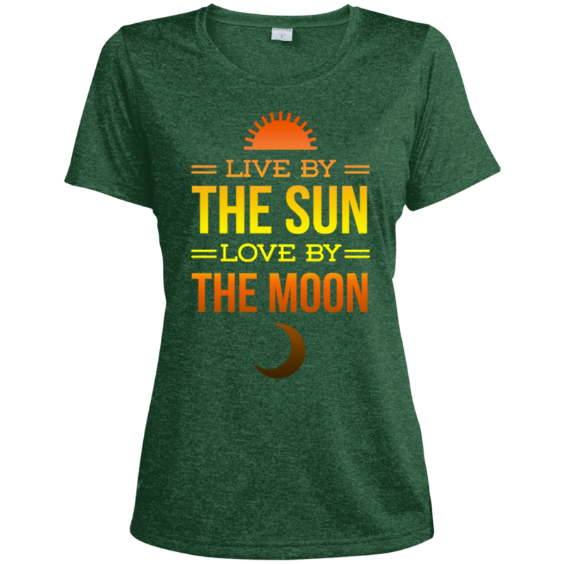 Live By The Sun Ladies Heather Dri-Fit Moisture-Wicking Tee