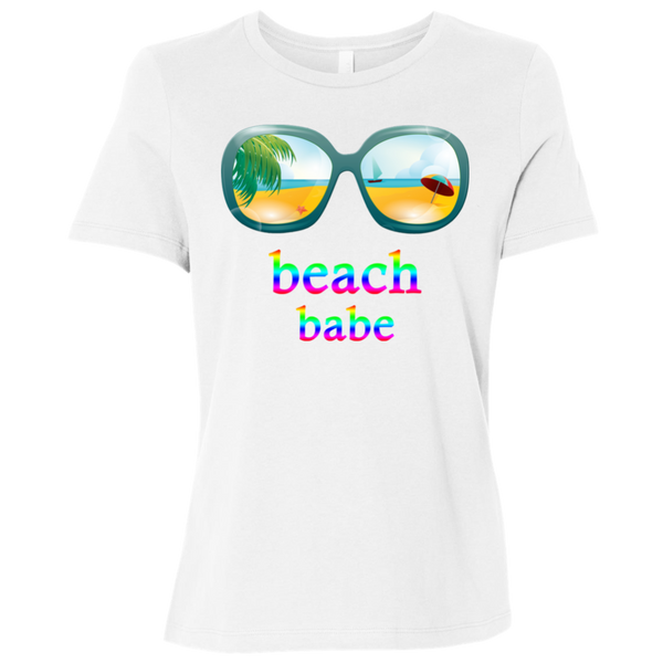 Beach Themed Shirt For Ladies' Relaxed Jersey Short-Sleeve T-Shirt