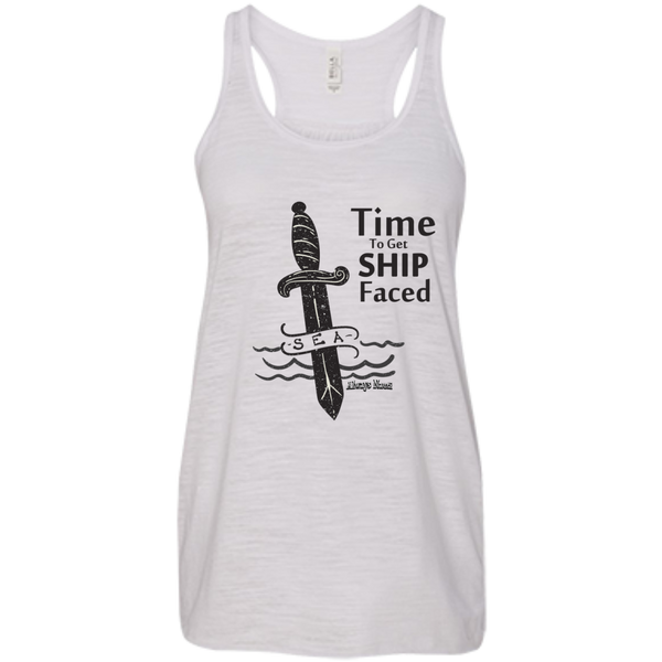 Time To Get Ship Faced Bella+Canvas Flowy Racerback Tank