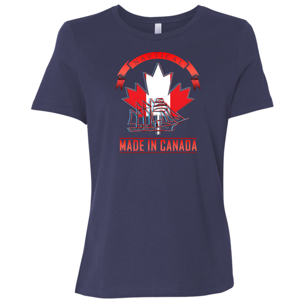 Nautical Shirt Made In Canada Ladies' Relaxed Jersey Short-Sleeve T-Shirt