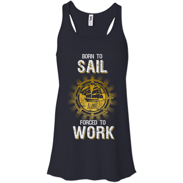 Nautical Attire For Women Flowy Racerback Midnight Tank