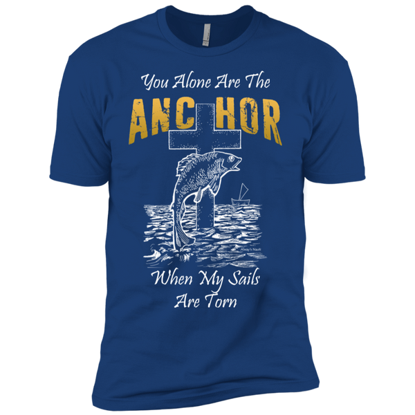 Nautical Christian Men's Short Sleeve TShirt - When My Sails Are Torn