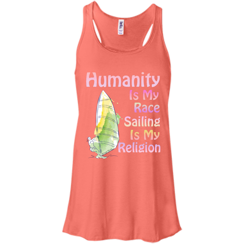 Humanity Is My Race Women's Flowy Racerback Tank