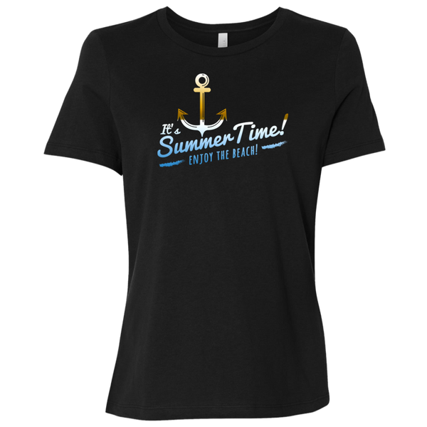 Beach Theme Summer Time Ladies' Relaxed Jersey Short-Sleeve T-Shirt