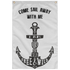 Nautical Flag Sail Away Sublimated Wall Flag