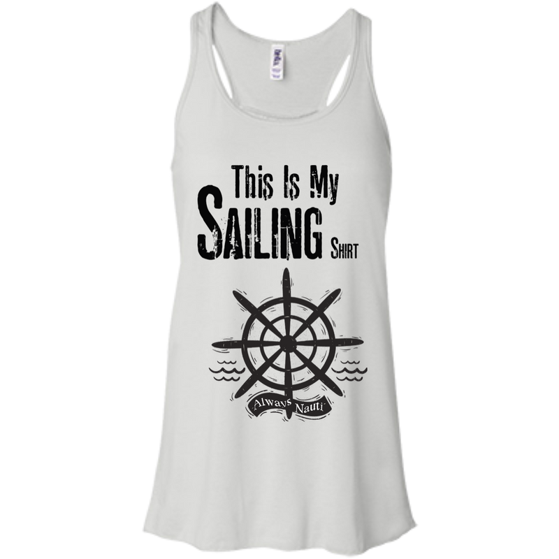 This Is My Sailing Shirt Bella+Canvas Flowy Racerback Tank
