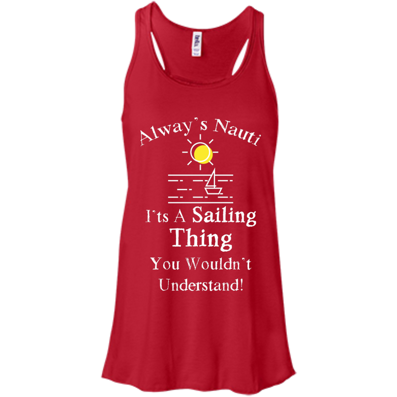Nautical Ladies Top  - It's A Sailing Thing Flowy Racerback Red Tank