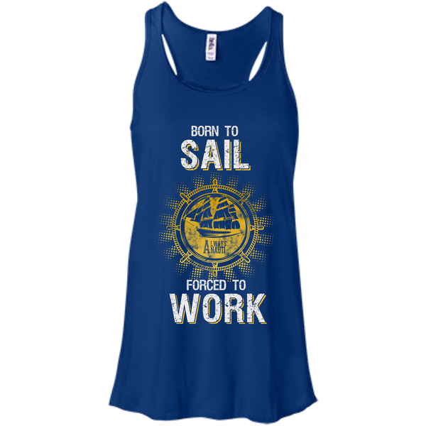 Nautical Attire For Women Flowy Racerback True Royal Tank