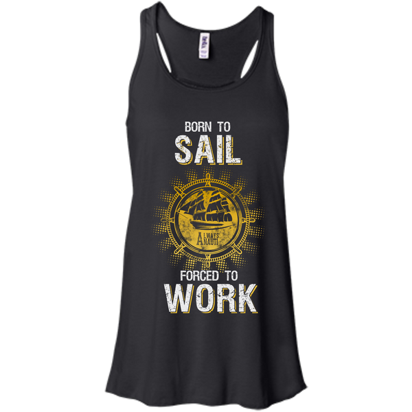 Nautical Attire For Women Flowy Racerback Black Tank