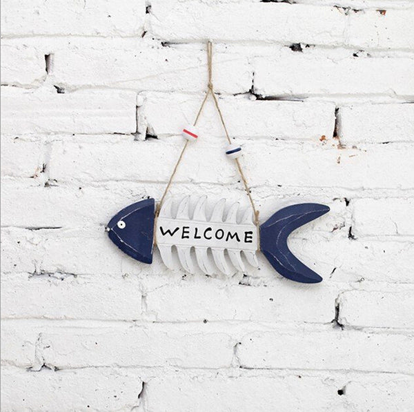 Natical Decor Featuring Decorative Hanging Fish 4