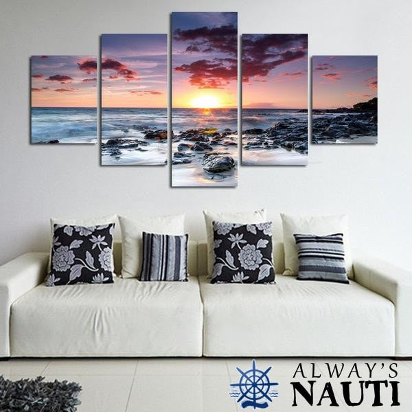 Large Beach Wall Art - Sunset In The Distance