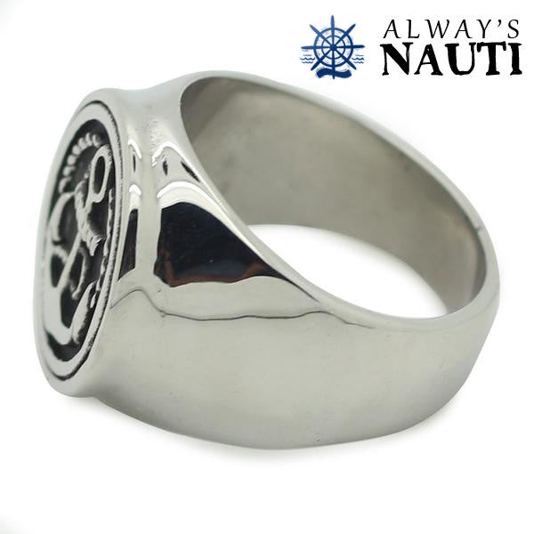 Nautical Anchor Ring For Men Made Of Durable Stainless Steel
