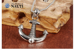Christian Cross Anchor Pendant And Necklace