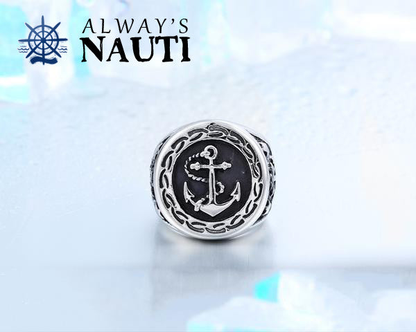 Men's Nautical Anchor Ring Made From High Grade Stainless Steel