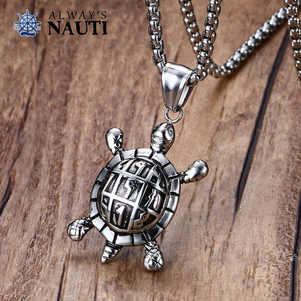 Sea Turtle Stainless Steel Nautical Jewelry
