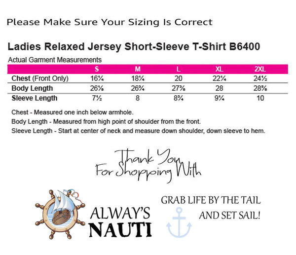 Sailing Shirt Love Anchors The Soul Ladies' Relaxed Jersey Short-Sleeve T-Shirt