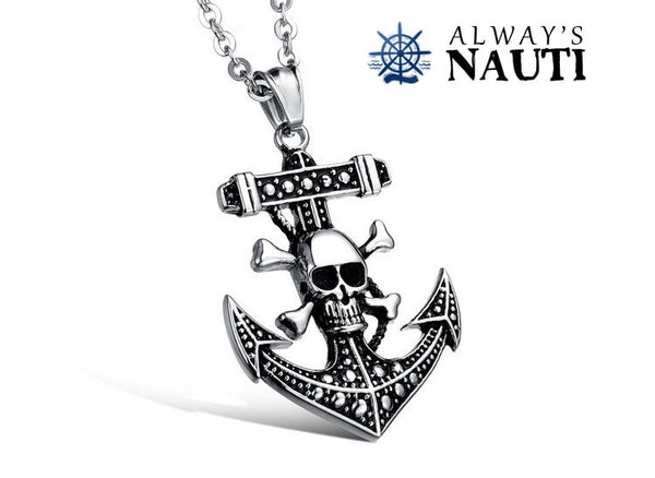 Anchor With Skull And Crossbones