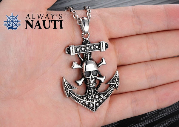Anchor With Skull And Crossbones 4