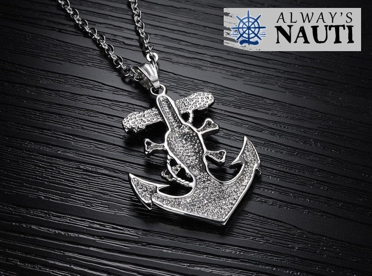Anchor With Skull And Crossbones 3