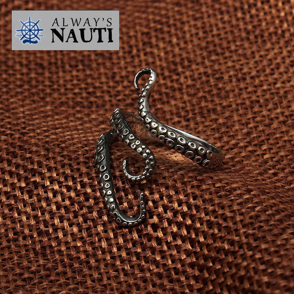 Octopus Nautical Ring Made From High Grade Titanium 5