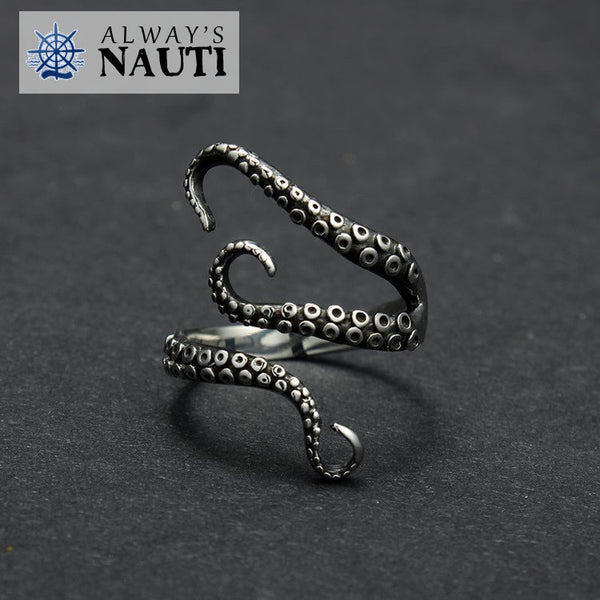 Octopus Nautical Ring Made From High Grade Titanium 3