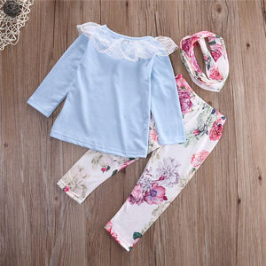 Cute as a Flower - 3 piece baby girl set